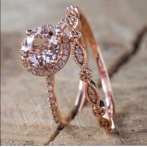 Jewelry - Rose Gold Vintage Ring Set